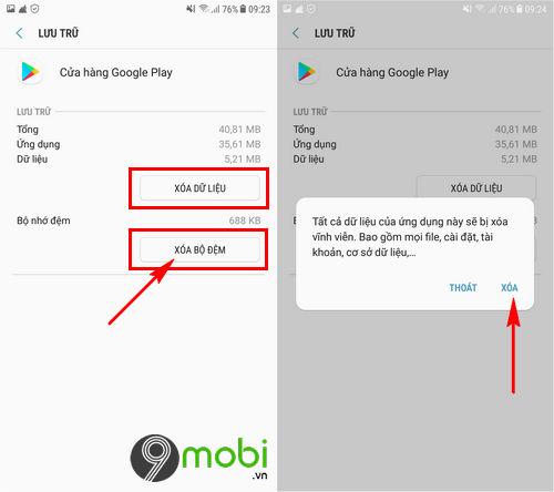 cach sua loi google play store error 491 tren android 5
