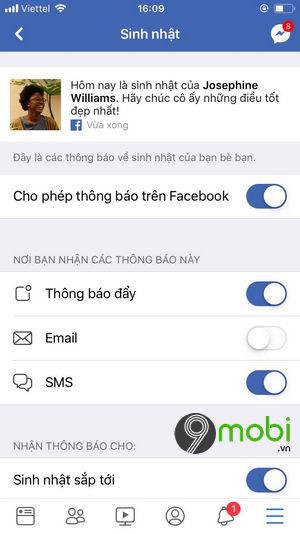 cach bat tat thong bao sinh nhat facebook tren iphone 7