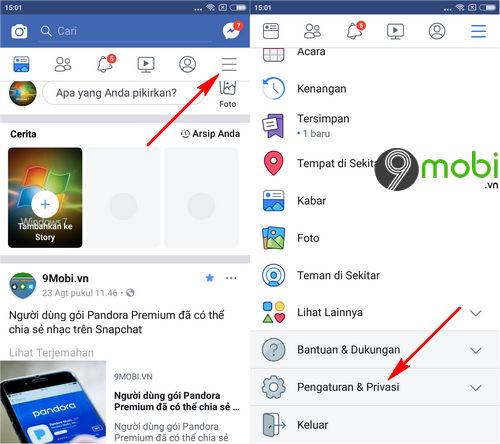 huong dan cach doi ten facebook 1 chu tren dien thoai android iphone 4
