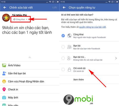 cach dang bai facebook tren dien thoai 6