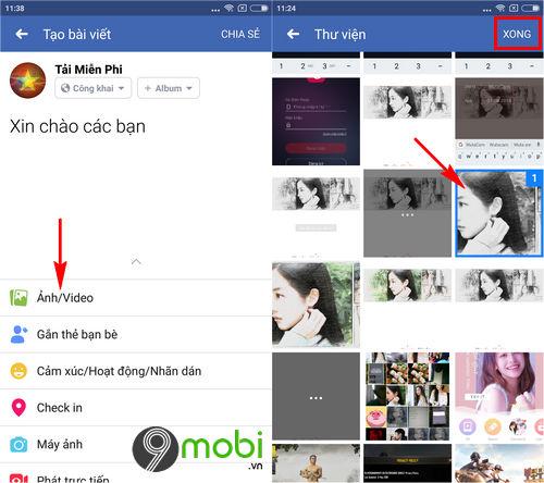 cach dang hinh anh video len facebook bang dien thoai 3