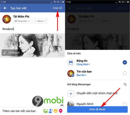 cach dang hinh anh video len facebook bang dien thoai 5