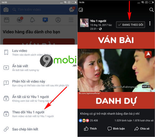cach them bo theo doi trang video tren facebook watch 3