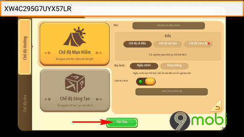 cach su dung ma code map trong mini world 7