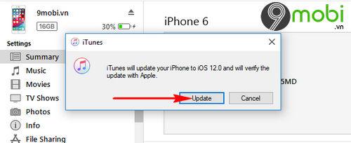 Cập nhật iOS 12 cho iPhone, iPad bằng iTunes và OTA