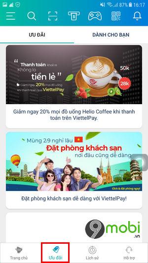 cach su dung viettel pay tren dien thoai iphone android 5