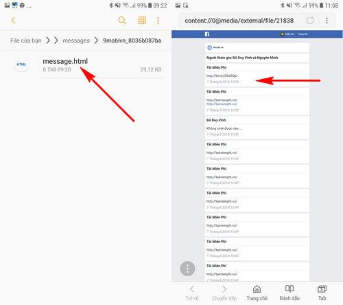 cach khoi phuc tin nhan facebook da xoa tren android 9