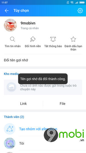 huong dan doi ten goi nho tren ung dung zalo android iphone 6