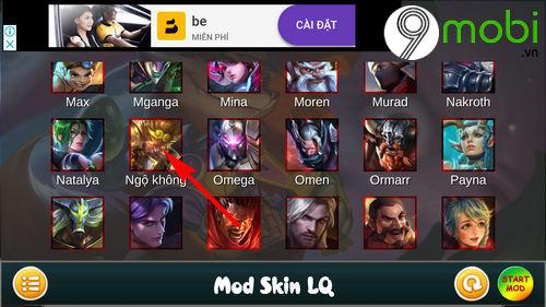 huong dan mod skin ngo khong game lien quan mobile 6