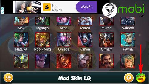 huong dan mod skin ngo khong game lien quan mobile 8