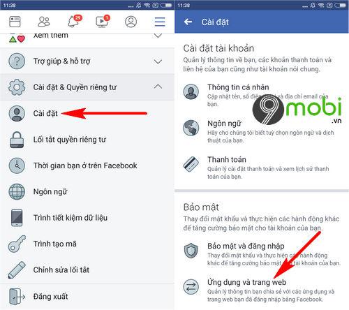 cach xoa lien ket facebook voi lien quan mobile 3