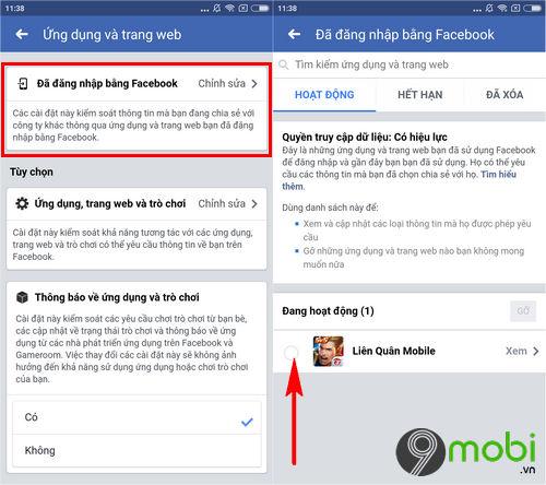 cach xoa lien ket facebook voi lien quan mobile 4