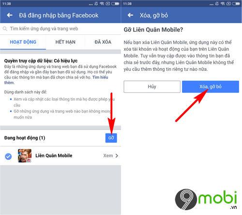 cach xoa lien ket facebook voi lien quan mobile 5