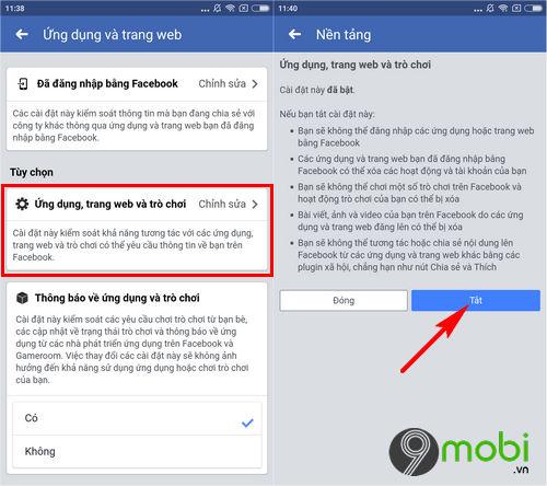 cach xoa lien ket facebook voi lien quan mobile 6