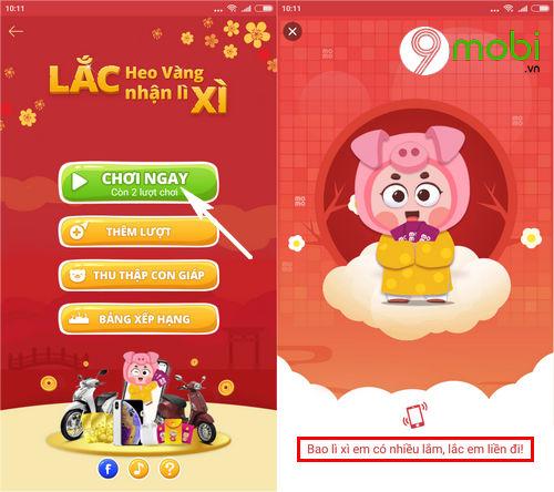 huong dan choi game lac xi tren vi momo 3