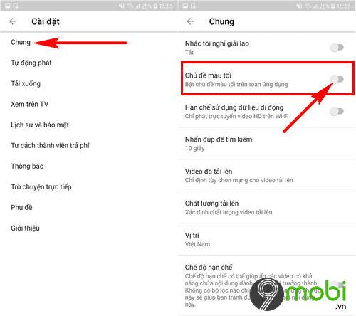 huong dan thay doi giao dien youtube tren android 3