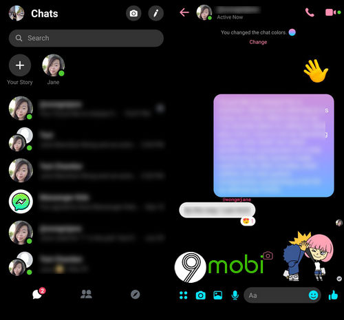 huong dan su dung che do dark mode cua facebook messenger 3