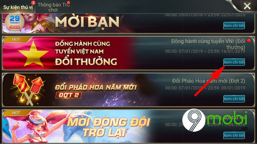 huong dan tham gia su kien dong hanh cung tuyen vn lien quan mobile 6