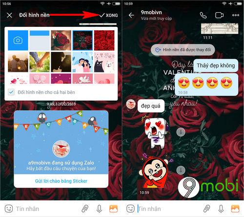 huong dan doi hinh nen valentine trong zalo chat 4