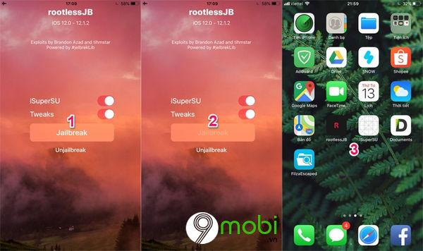 huong dan jailbreak ios 12 cho iphone ipad 4