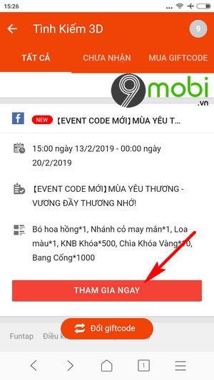 cach nhan code game tinh kiem 3d tren funtap 4