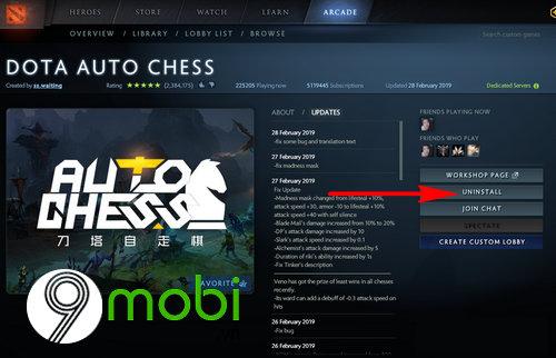loi downloading queue khi choi dota auto chess 3