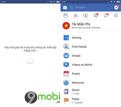 cach chuyen facebook sang tieng viet tren android 4