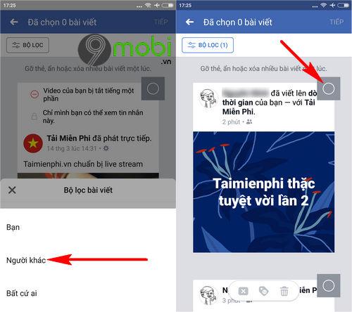 huong dan don sach tuong facebook tren dien thoai 4