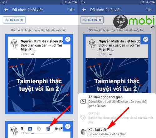huong dan don sach tuong facebook tren dien thoai 5