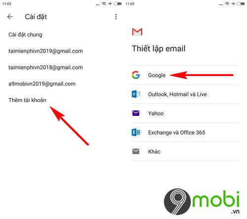 cach dang nhap gmail tren ung dung gmail cho dien thoai 3