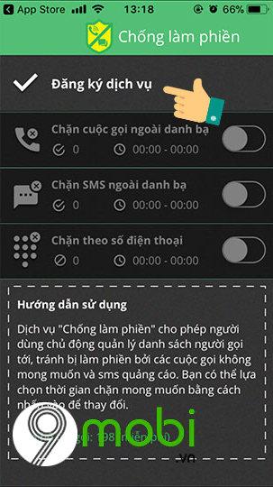 cach chan cuoc goi ngoai danh ba tren iphone cho thue bao viettel 3
