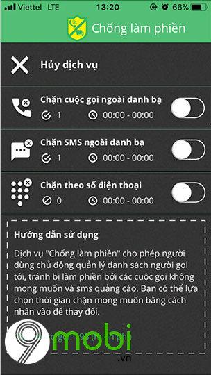 cach chan cuoc goi ngoai danh ba tren iphone cho thue bao viettel 4