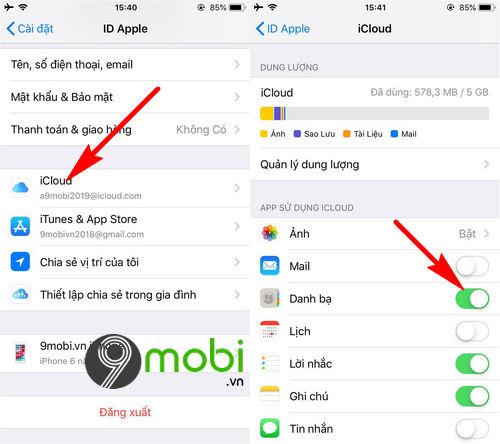 cach chuyen danh ba tu iphone sang android 3