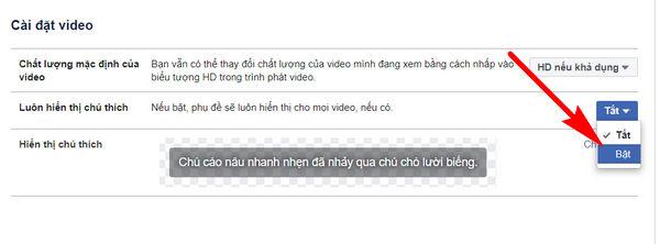 huong dan tuy chinh phu de video tren facebook 4