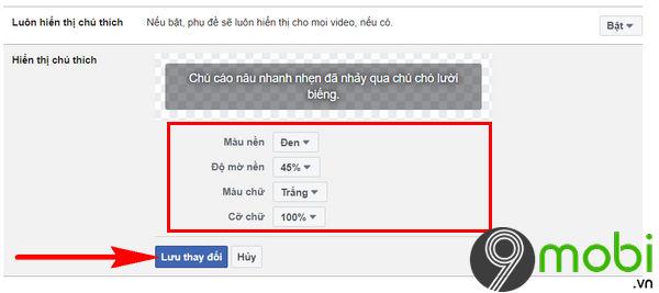huong dan tuy chinh phu de video tren facebook 6