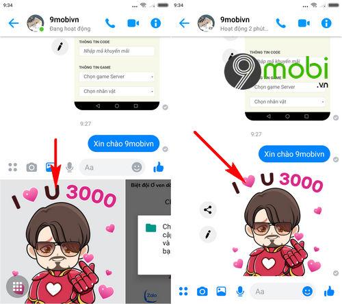 huong dan dung sticker avengers endgame trong facebook messenger 4