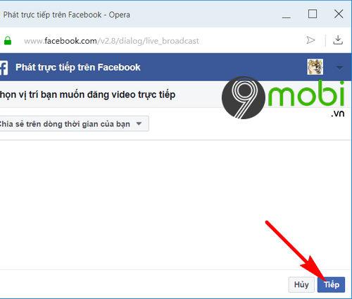 cach phat video truc tiep tren facebook tu may tinh laptop 6