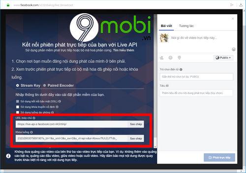 cach phat video truc tiep tren facebook tu may tinh laptop 9