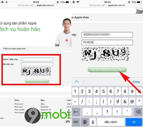 huong dan kiem tra bao hanh iphone 8 plus 3