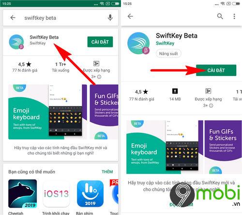 cach cai swiftkey beta tren android 3