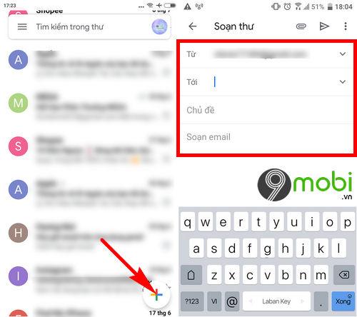 hop thu gmail tren dien thoai cach mo nhan gui mail 5