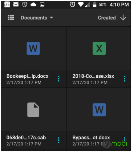 cach mo file word tren dien thoai android