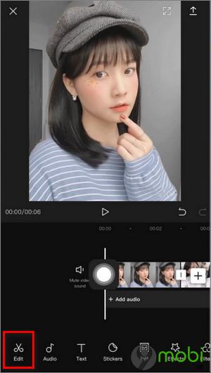 cach chinh sua video tiktok tren dien thoai bang capcut