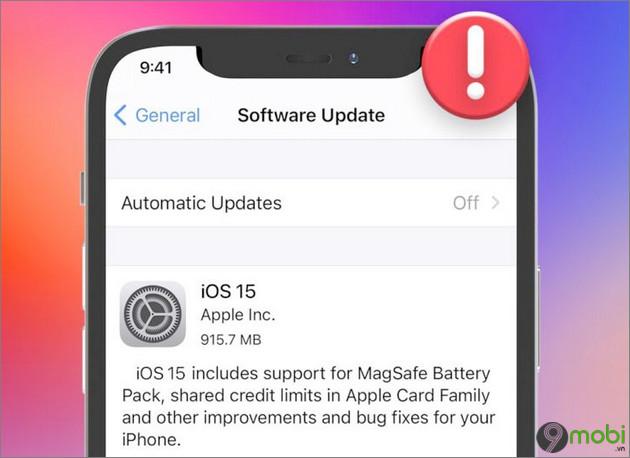 cach cap nhat iOS 15