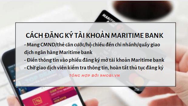 Mở tài khoản Maritime, Ngân hàng TMCP Hàng Hải Việt Nam