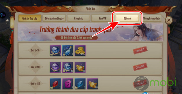 cach nhap giftcode vo lam ky hiep mobile gamota