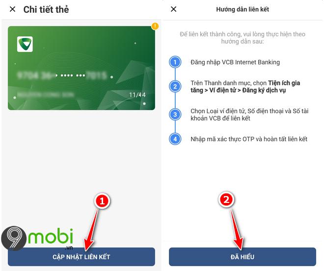 Hướng dẫn liên kết ví VinID với ngân hàng