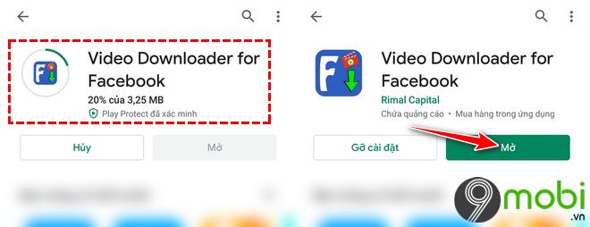 huong dan tai video facebook android bang video downloader for facebook 4