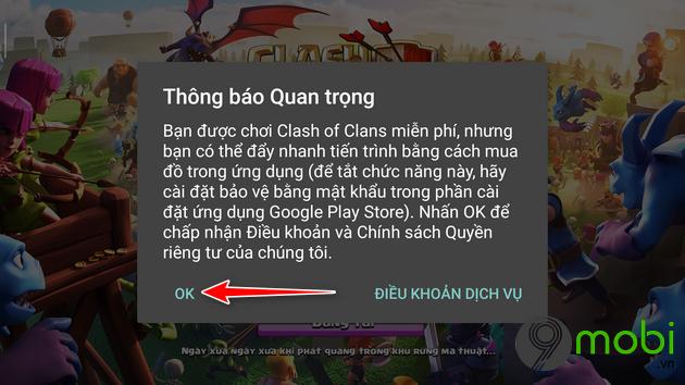 cach tai va cai dat clash of clans tren google play khi bi chan 6