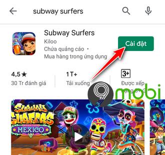 cach tai va choi subway surfers tren dien thoai 3